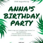 Szülinap, születésnap meghívó, party